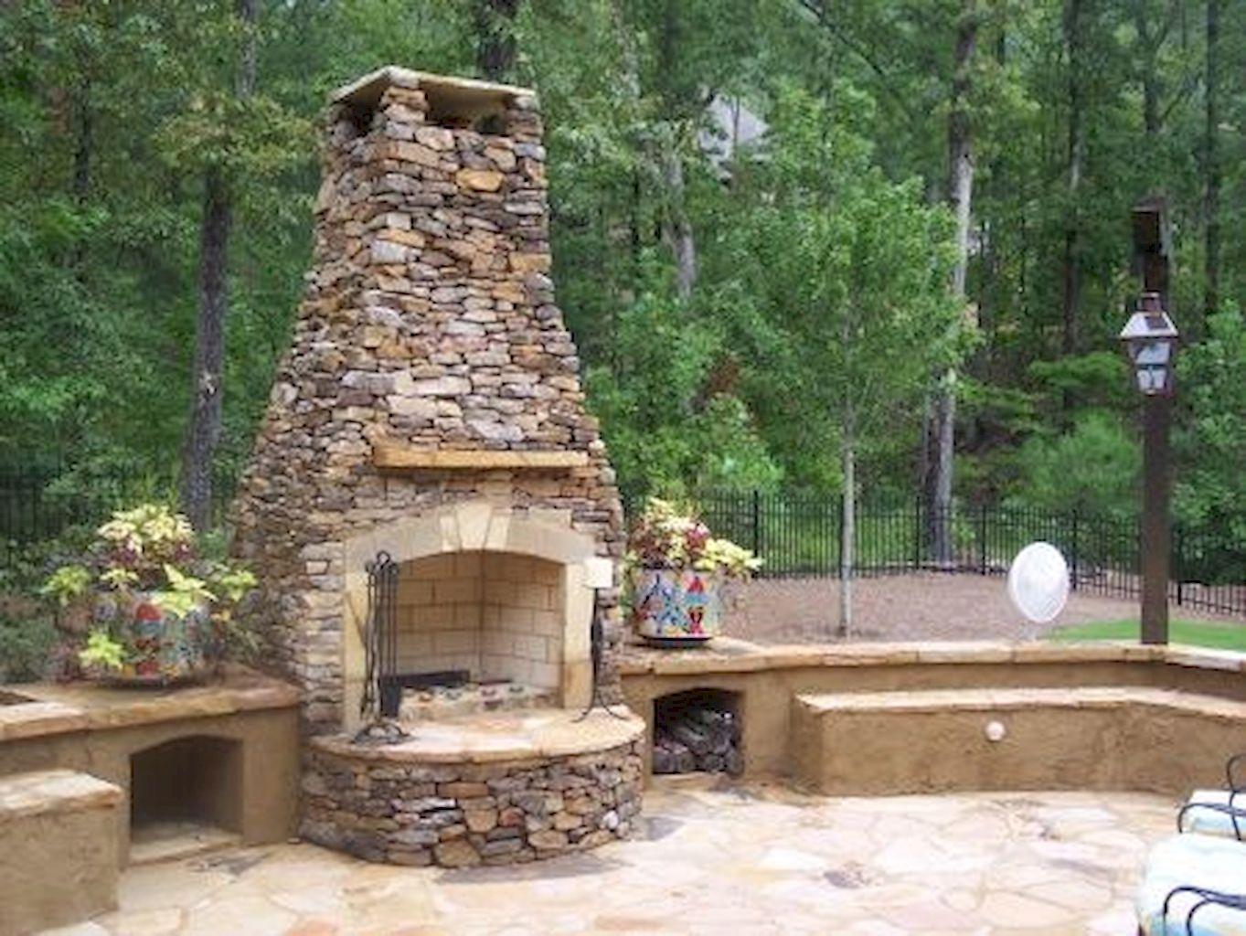 Backyard Fireplace131