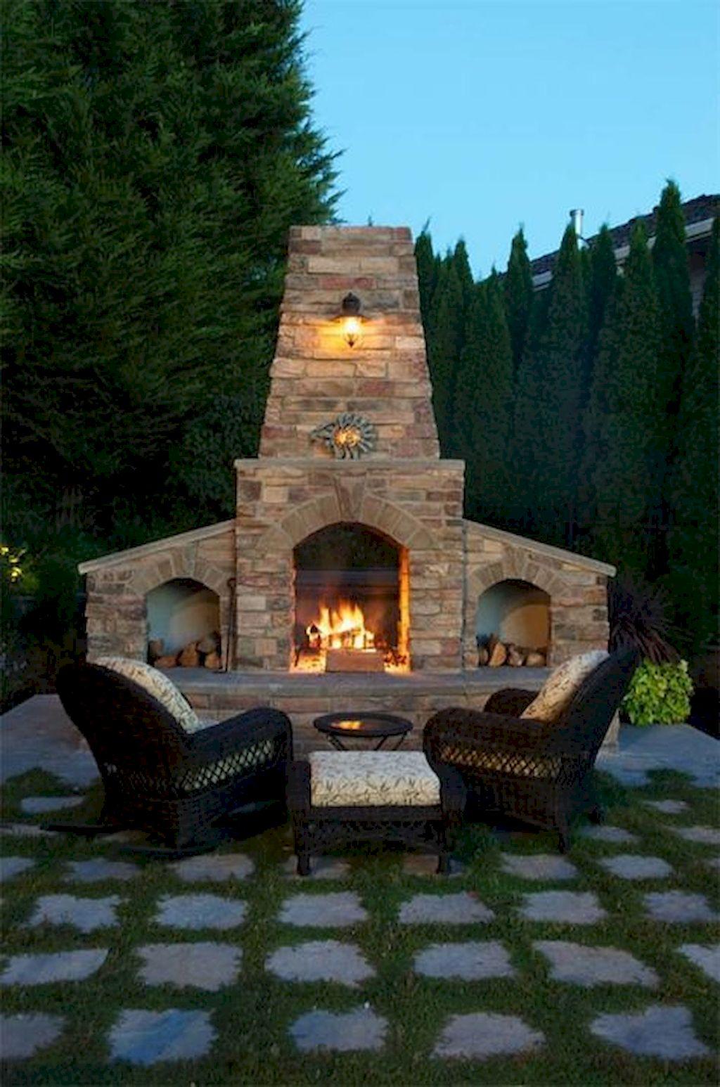 Backyard Fireplace138