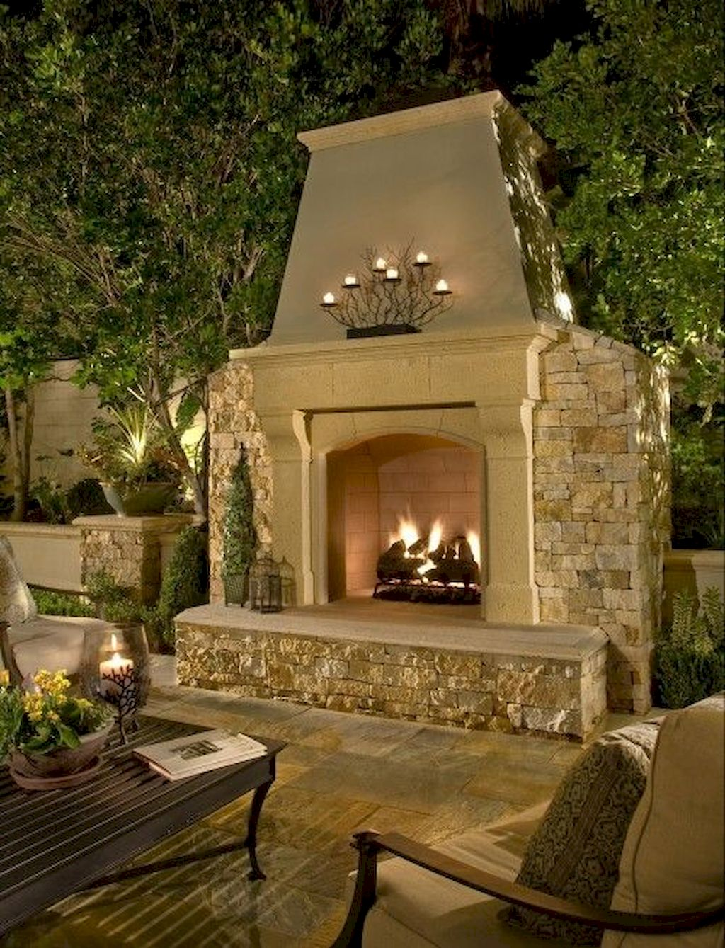 Backyard Fireplace155
