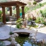 Enjoy the Peace and Serenity with Backyard Pond Decor 37