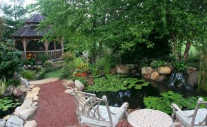 Enjoy the Peace and Serenity with Backyard Pond Decor 78