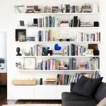 50 ++ Amazing Living Room Designs With Floating Shelves 134