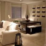 50 ++ Amazing Living Room Designs With Floating Shelves 137