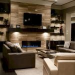 50 ++ Amazing Living Room Designs With Floating Shelves 147
