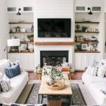 50 ++ Amazing Living Room Designs With Floating Shelves 155