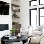 50 ++ Amazing Living Room Designs With Floating Shelves 158
