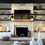 50 ++ Amazing Living Room Designs With Floating Shelves 164