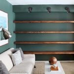 50 ++ Amazing Living Room Designs With Floating Shelves 171