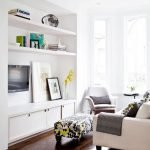 50 ++ Amazing Living Room Designs With Floating Shelves 5