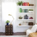 50 ++ Amazing Living Room Designs With Floating Shelves 12