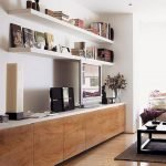 50 ++ Amazing Living Room Designs With Floating Shelves 19