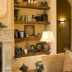 50 ++ Amazing Living Room Designs With Floating Shelves 28