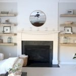 50 ++ Amazing Living Room Designs With Floating Shelves 32