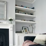 50 ++ Amazing Living Room Designs With Floating Shelves 40