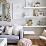 50 ++ Amazing Living Room Designs With Floating Shelves 41