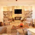 50 ++ Amazing Living Room Designs With Floating Shelves 42