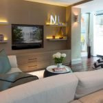 50 ++ Amazing Living Room Designs With Floating Shelves 51