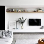 50 ++ Amazing Living Room Designs With Floating Shelves 55