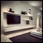 50 ++ Amazing Living Room Designs With Floating Shelves 59