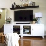 50 ++ Amazing Living Room Designs With Floating Shelves 62