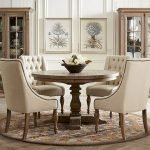 Round Dining Room Tables Decoration Ideas 11