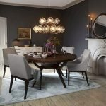 Round Dining Room Tables Decoration Ideas 109
