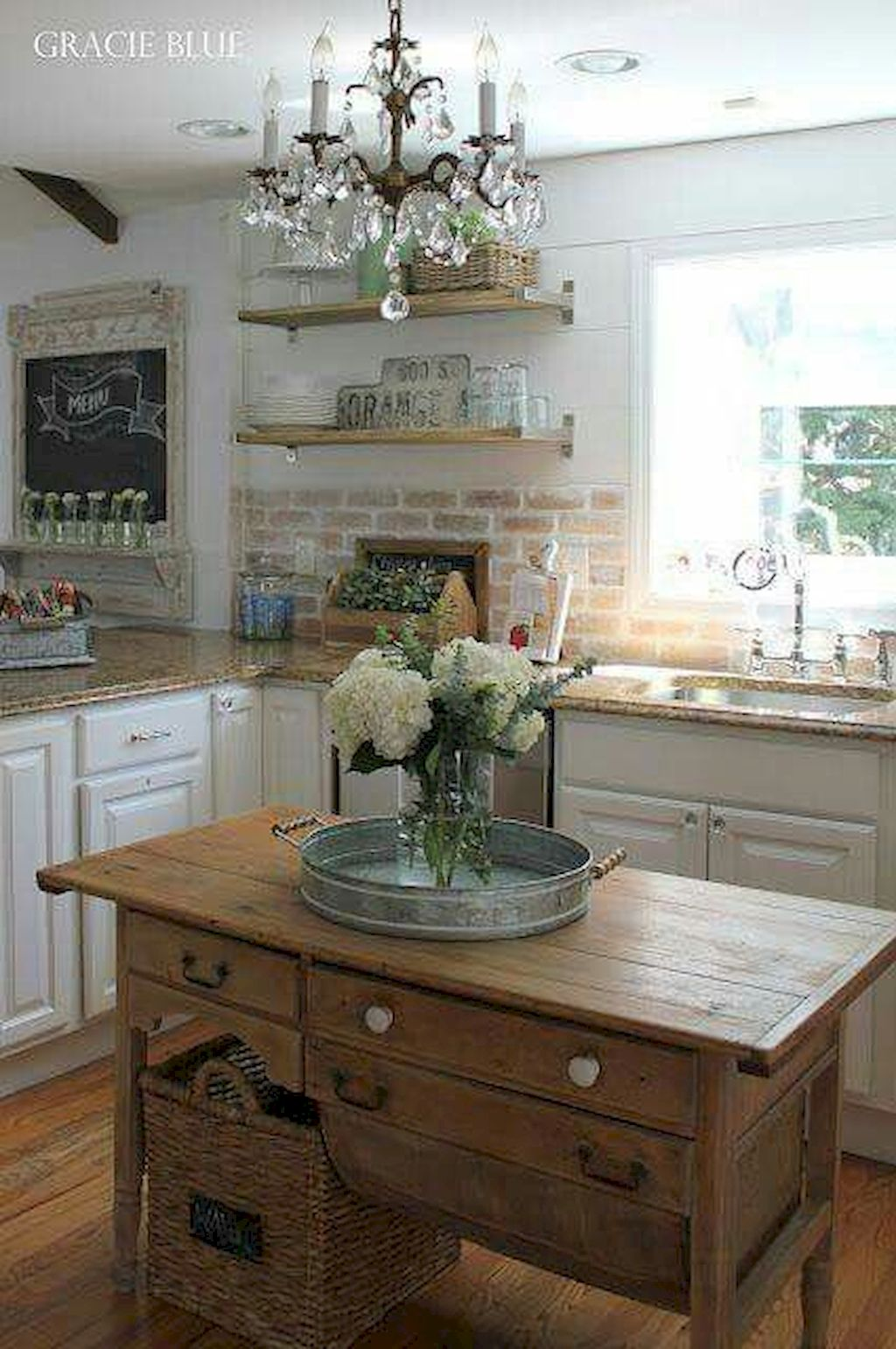 Small Island Kitchen Table098