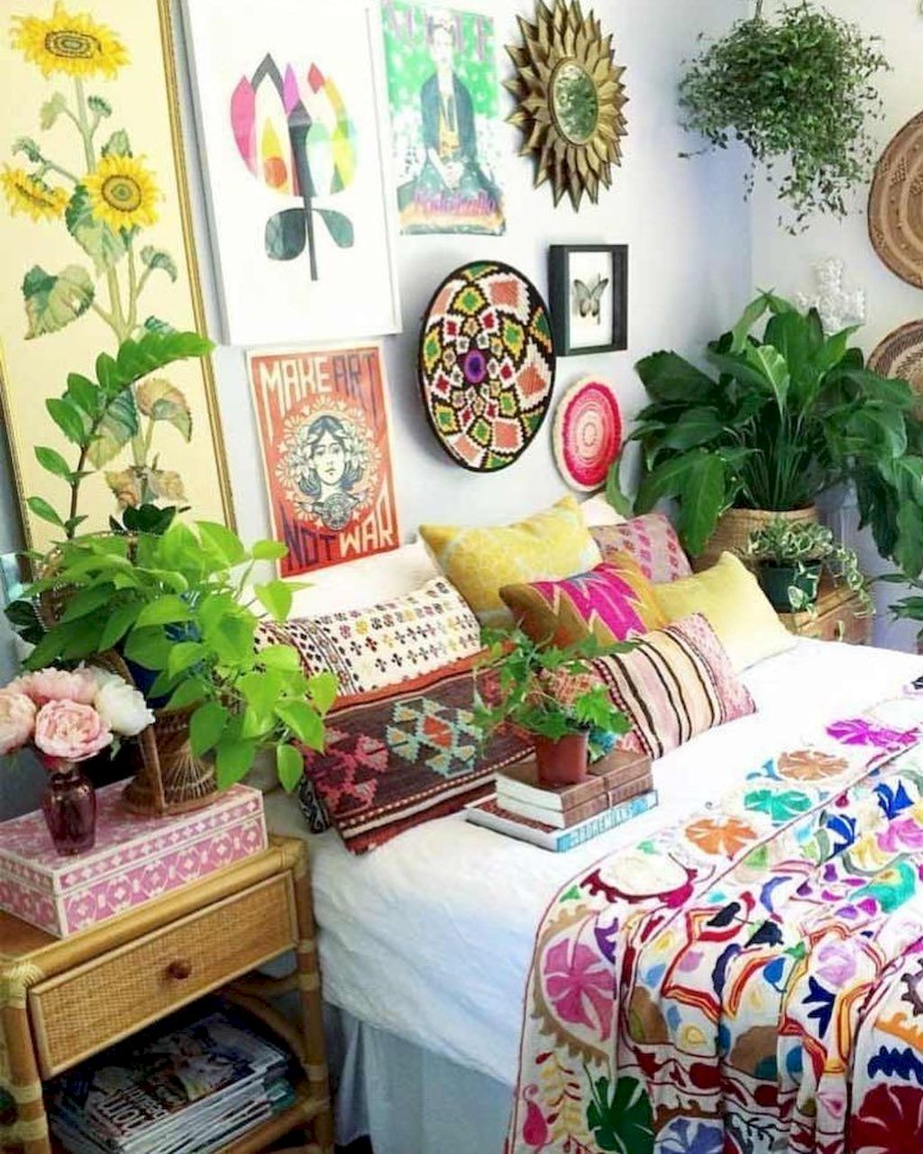 Bohemian Style Bedroom decoration Ideas 108