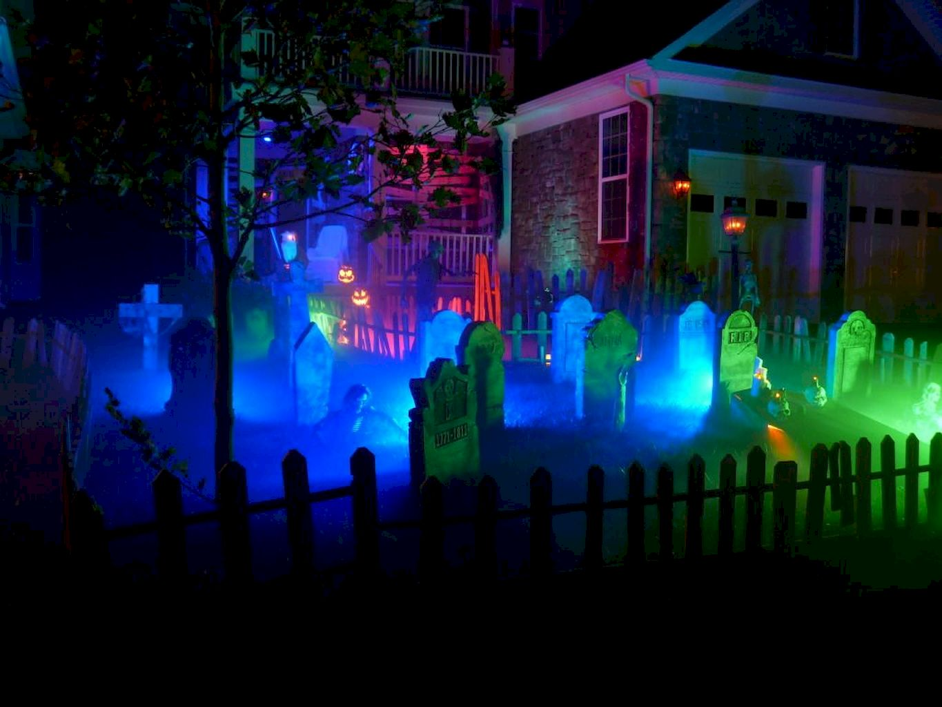 Scary Halloween Haunted House Outdoor Decoration