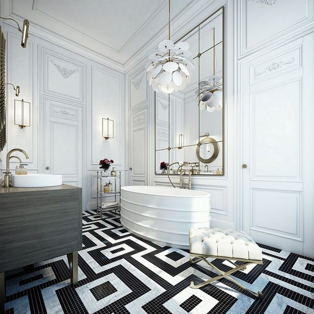 3 Black And White Bathroom Design Ideas