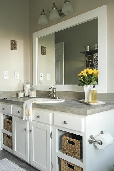 Bathroom Mirror Frame Ideas Pinterest