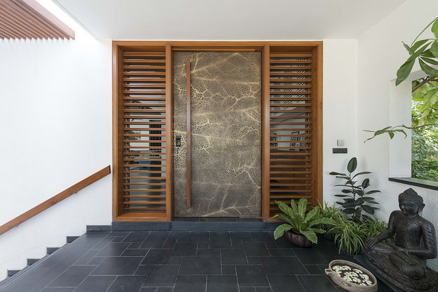 Wooden main door entrance
