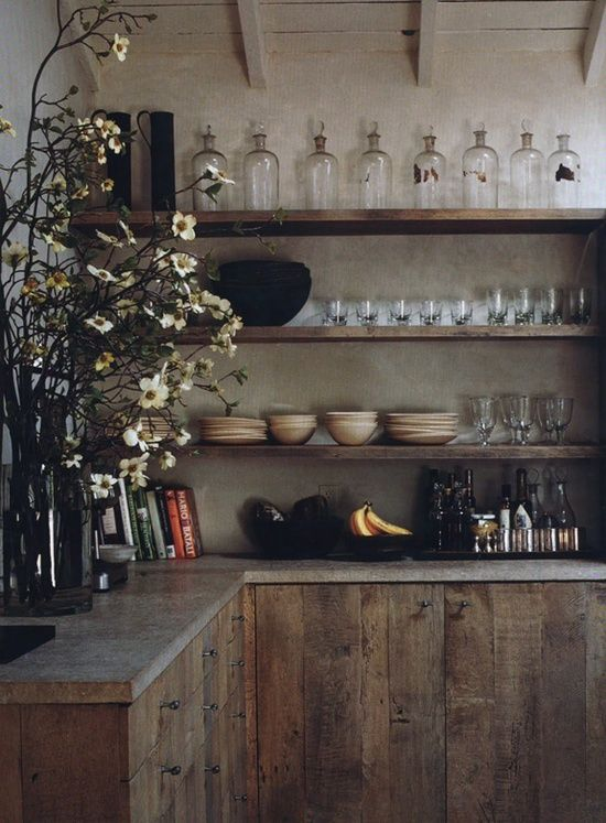 Rustic Kitchen Cabinets With Tin
