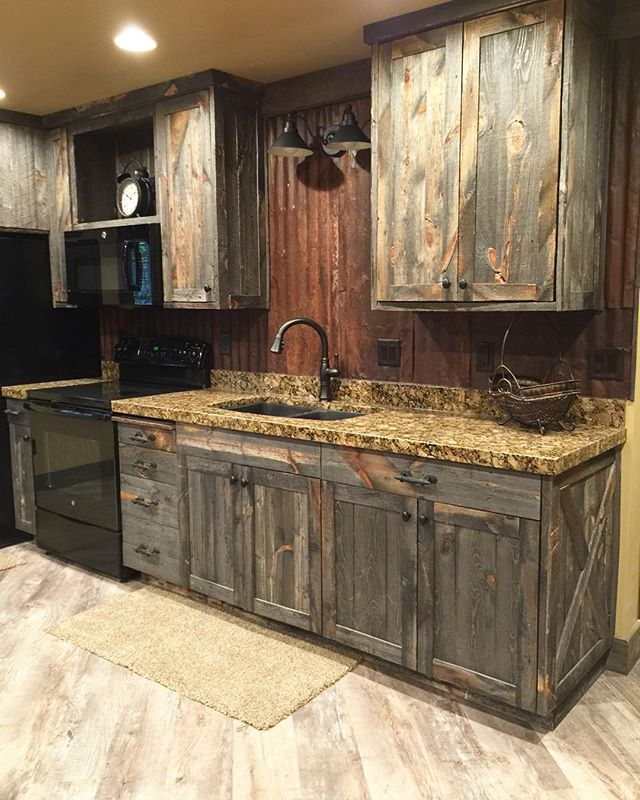 Rustic Kitchen Pantry Cabinet