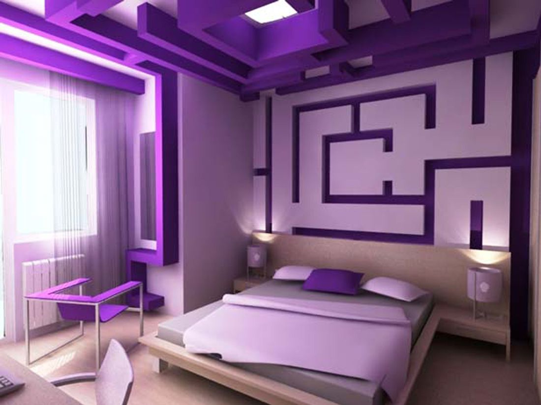 Purple Accent Wall Bedroom Ideas