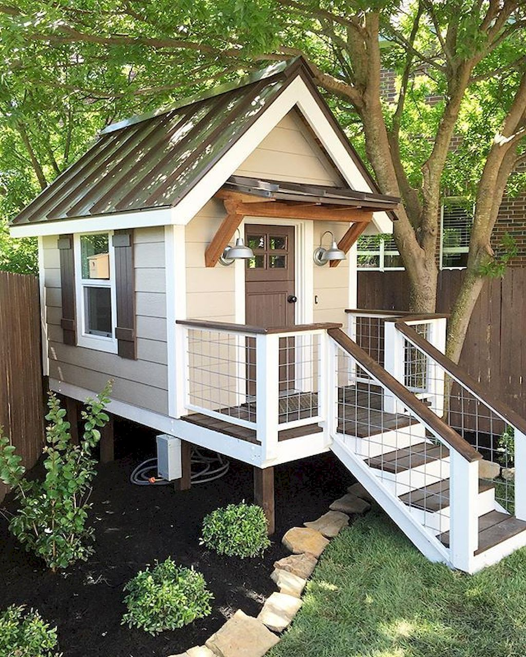 Attractive Playhouse Plan Into Your Existing Backyard Space