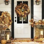 Beautiful Front Door Decoration For Fall 015