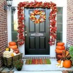 Beautiful Front Door Decoration For Fall 045