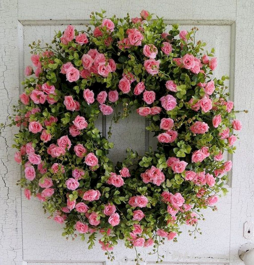 Beautiful Front Door Decoration For Fall 054
