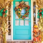 Beautiful Front Door Decoration For Fall 136