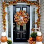 Beautiful Front Door Decoration For Fall 151