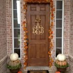 Beautiful Front Door Decoration For Fall 155