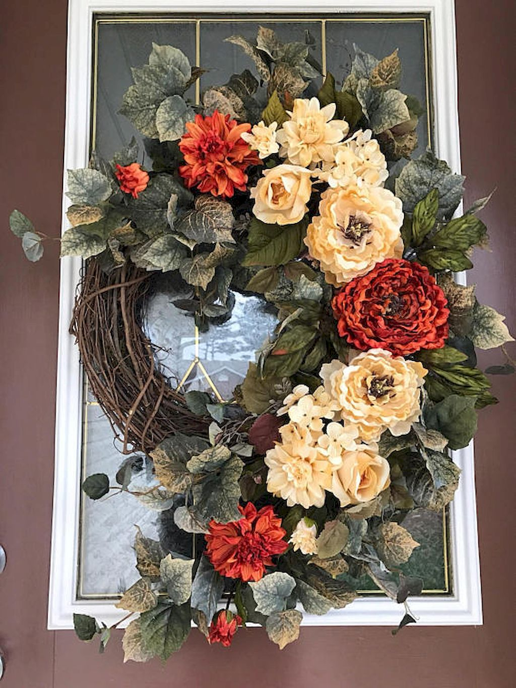 Beautiful Front Door Decoration For Fall 182