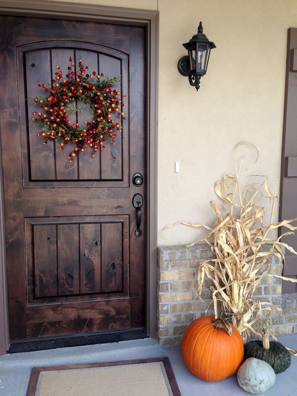 Beautiful Front Door Decoration For Fall 188