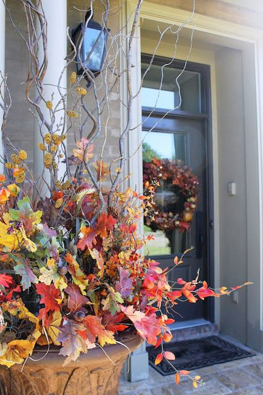 Beautiful Front Door Decoration For Fall 189