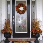 Beautiful Front Door Decoration For Fall 196