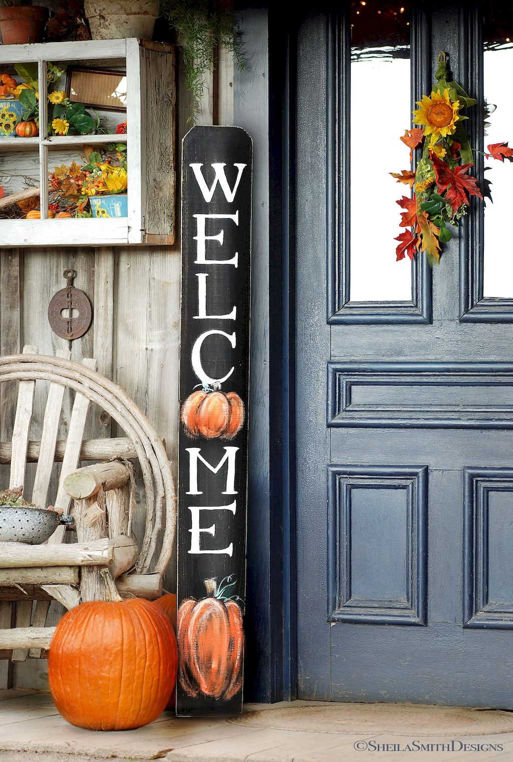 Beautiful Front Door Decoration For Fall 225
