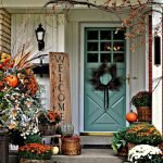 Beautiful Front Door Decoration For Fall 233