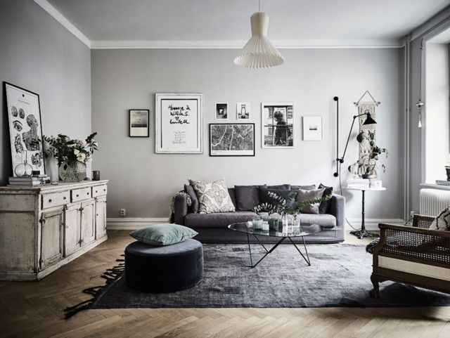 Bohemian Apartment Design with Monochrome Touch