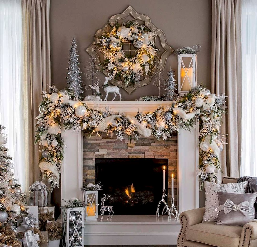 Brilliant Christmas Garland Decorating Ideas 163